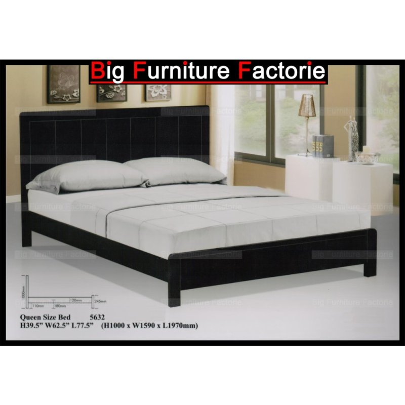BFF5632-WB Solid Wooden Bed (Walnut) – King