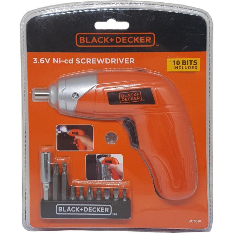 Black And Decker 3.6V Ni-Cd Screwdriver Kc3610