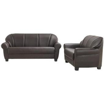 Bradford Leather Sofa 3 Seater (Dark Brown) (Free Delivery) - 2