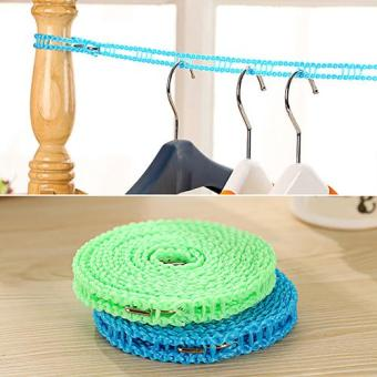 Broadfashion Outdoor Clothesline Laundry Travel Business Non-slipWashing Clothes Line Rope 500cm - intl - 2