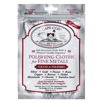 Cape Cod® Metal Polish Cloths - Foil Pouch