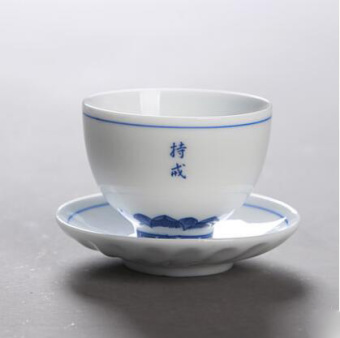 Ceramic cup tea cup Jingdezhen blue and white porcelain imitation hand-painted mysterious pattern cup kung fu cup tea cup hats cup