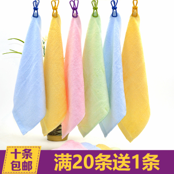 Charcoal bamboo fiber small square infant children's baby towelbeauty face towel absorbent kindergarten handkerchief wash bowl - 2