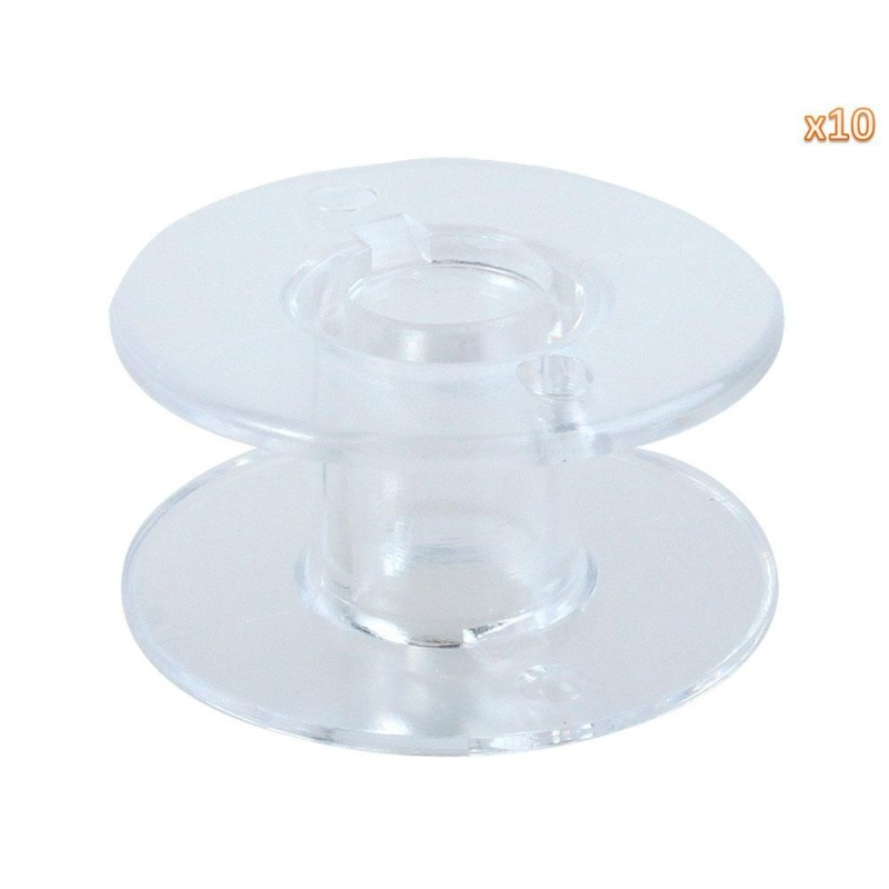 chechang Sewing Machine Bobbins for Singer (Clear, Set of 10) - intl