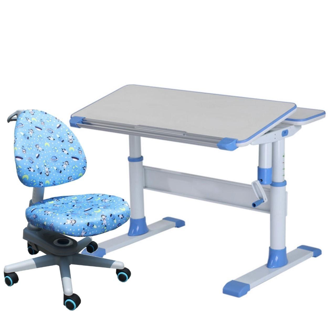 Children Ergonomics Study Table And Chair Set   Blue | Lazada Singapore