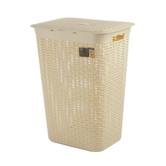 Citylife Rattan Laundry Basket with Lid (Tall)