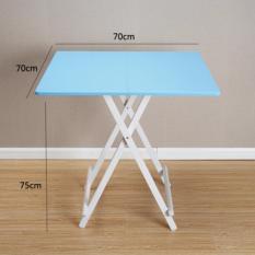 Colorful Folding Portable Foldable Table   Sky Blue 70 X 74(h)cm