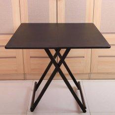 Colorful Square Folding Portable Foldable Table   Black 80 X 74(h)cm