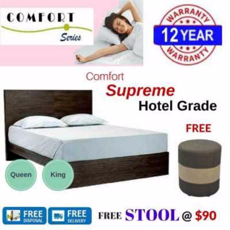 Comfort Supreme 8in Spring Mattress (Queen/King)