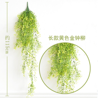 Country Garden simulation plants spider flower vine wall Admiralty  Liu fake green leaves rattan balcony shop Wall Decoration