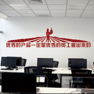 office decorative. creative corporate culture inspirational large wall stickers sales company office study text decorative painting