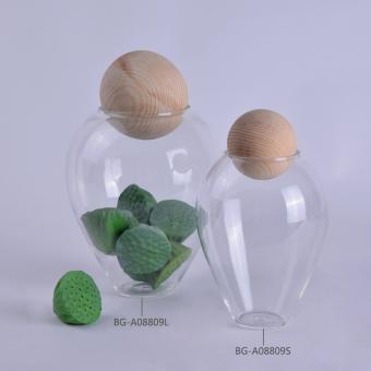 Creative Storage Ornaments Transparent Glass Jar Decorative Product Altarflower Mini Fish Tank Living Room Home