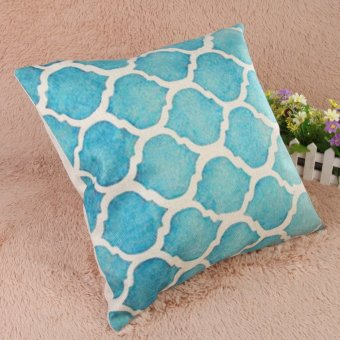 Creative Striped Pattern Cotton Pillow Cover(Blue) (EXPORT) - 4