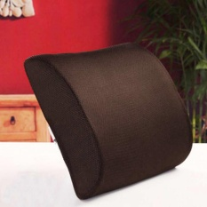 Cyber Sales New Lumbar Cushion Back Support Memory Foam Travel Car Seat Home Office Chair Pillow( #2 ) - intl