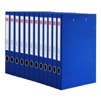 Deli back wide data file cardboard folder double clip