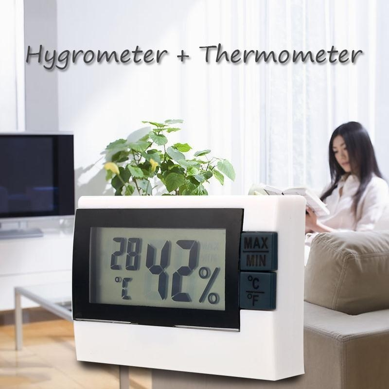 Digital Display Indoor Home Thermometer Thermo Hygrometer Max Min Meter - intl