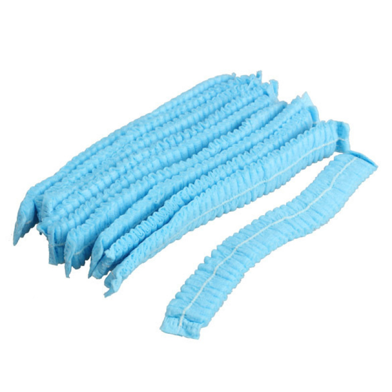 Buy Disposable Hair Shower Cap Non Woven Pleated Anti Dust Hat Set Blue Singapore