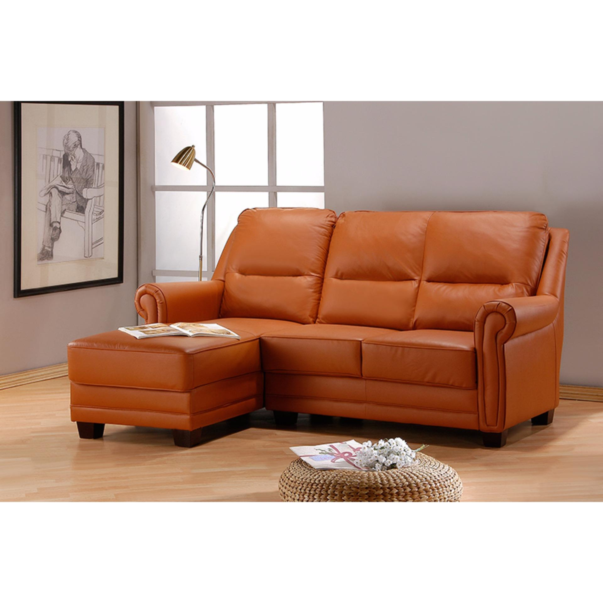 Dora L Shape Sofa Living Room Sofa Camel Color Singapore