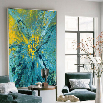 Double Eleven Large Paintings Abstract Painting Decorative Painting Hotel  Hallway Art Painting Modern Living Room Mural