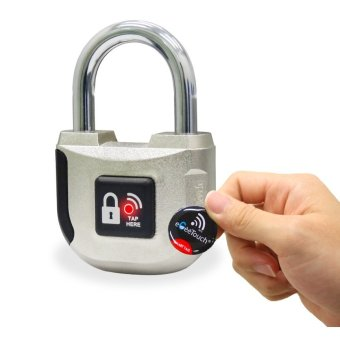 eGeeTouch® Smart NFC Padlock, with Multiple Access Methods, Access History, etc (Silver)