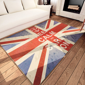 European And American British Style M Word Flag British Flag Retro Carpet Living  Room Bedroom Coffee Part 57