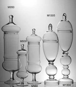 European Classical Transparent Glass Jars Decorative Containers Candy Cans Living Room Art Ornaments Wedding Floral Hotel