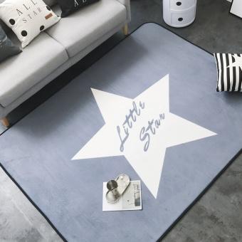 European Creative Fashion Line Network Red Gray Stars Carpet Mats Home Cool Living Room Bedroom Coffee