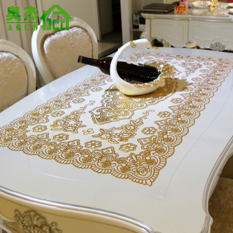 European Gold Foil Living Room Disposable Silver Coffee Table Cloth Dining Mat