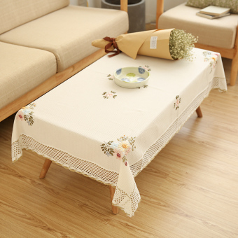 Fabric Floral European TV Cabinet Table Small Fresh WISHING TREE