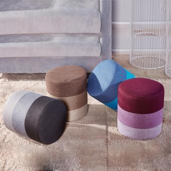 FARMIE: Durable Wooden Body Rainbow Linen Cloth Sitting Stool - 2