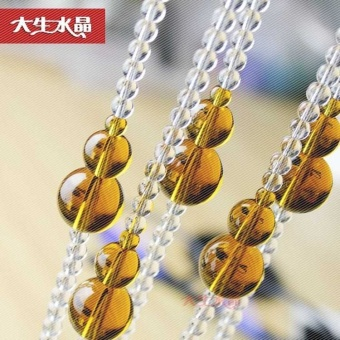 Feng Shui Gourd Crystal Bead Curtain Arched Partition Finished Entrance Decorative Living Room