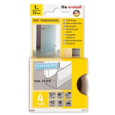 FIX-O-MOLL DOOR SEAL SOFT ADHESIVE TRANSPARENT 1MX32MM - FM-3565383