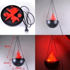 Flame Lamp with Artificial Fake Fire Light Party Halloween Decoration Realistic - intl