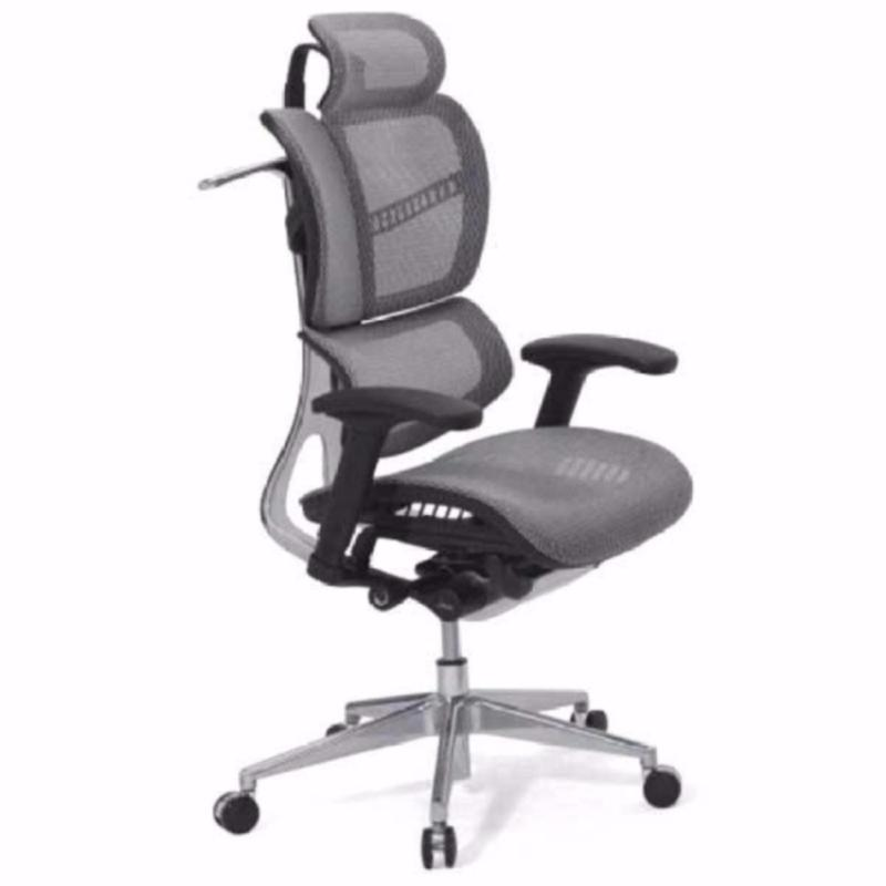 FLY Luxury Ergonomic Office Chair (Grey)(Installation Option Available) Singapore