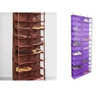 Groupon Over The Door Hanging Shoe Organizer (Purple) [2 Units]