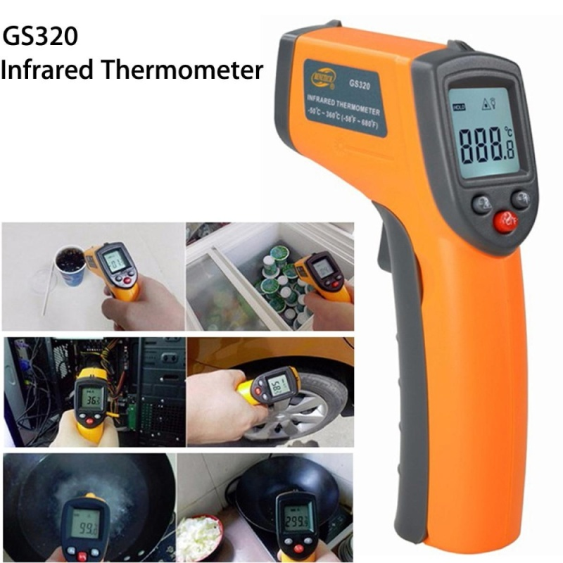 GS320 Laser LCD Display Digital IR Infrared Thermometer Temperature Meter - intl