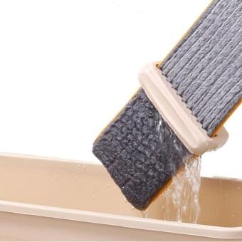 HappyLife Lazy Hand Wash-Free Flat Mop Hands-Free Washable MopWashingfloor Double-Side Beige - intl - 2