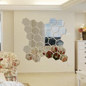 Hexagon Self Adhesive Mirror 3d Threedimensional Wall Stickers Living Room  Hallway Hallway Decor Mirror Stickers Sofa Part 64