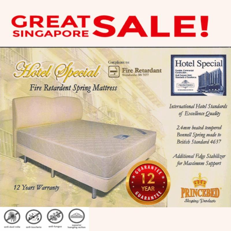 Hotel Special Fire Retardant Super Single 8 Inch Spring Mattress