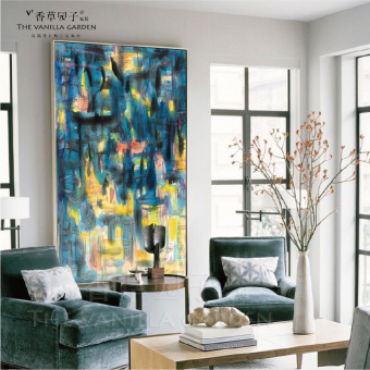 Huge Wall Painting Abstract Decorative The Living Room Entrance Mural Modern