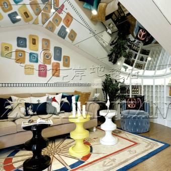 IKEA Cl Mediterranean Living Room Coffee Table Sofa Bedroom Carpet