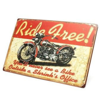 BolehDeals Vintage Metal Tin Sign Plaque Wall Art Poster Sheet Cafe Bar Motorcycle 25 (EXPORT) - 3