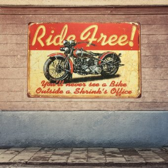 BolehDeals Vintage Metal Tin Sign Plaque Wall Art Poster Sheet Cafe Bar Motorcycle 25 (EXPORT) - 2