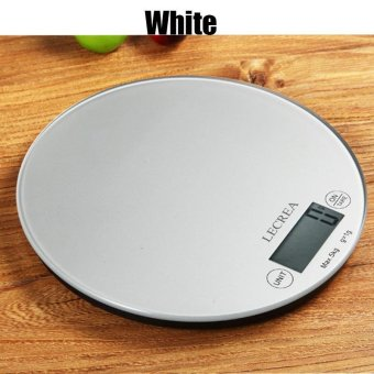 Harga 2017 Stainless Steel Kitchen Scales Cooking Measure Tools Electronic Weight LED Food Scale Practical Accessories5kg/1g - intl