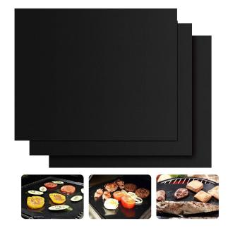 Harga xfsmy Set of 3 Non-Stick BBQ Grill Mat Heat Resistant Barbecue Sheets For Grilling Meat, Veggies, Seafoodd