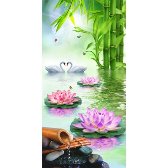 Harga Lotus Swan 5D Diamond DIY Painting Craft Home Decor