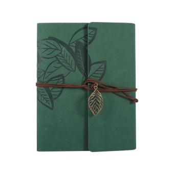 Artificial leather Cover Retro Photo Album Leaf Type DIY Birthday Wedding Gift (Green) - intl - 3