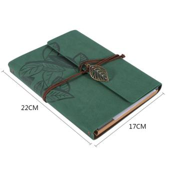 Artificial leather Cover Retro Photo Album Leaf Type DIY Birthday Wedding Gift (Green) - intl - 4