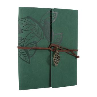 Artificial leather Cover Retro Photo Album Leaf Type DIY Birthday Wedding Gift (Green) - intl - 2