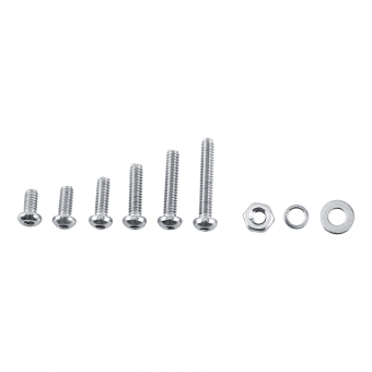 Harga 600pcs M2 Stainless Steel Hex Socket Screws Bolt and Hex Nuts Washers Assortment(Button head) - intl
